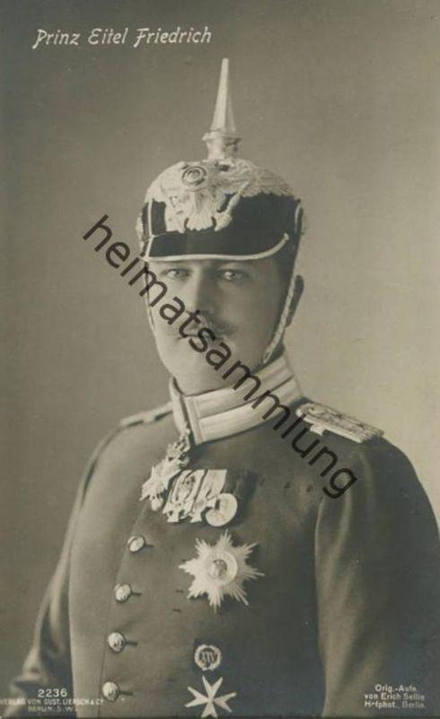 Prinz Eitel Friedrich von Preussen - Verlag Gustav Liersch & Co. Berlin - Phot. Erich Sellin Berlin