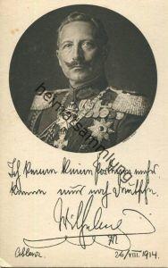 Preussen - Kaiser Wilhelm II. - Deutsche Kriegskarte 1914 - Rotkreuz-Karte - Verlag Rotophot AG Berlin