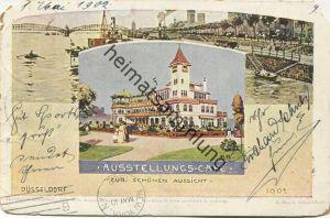 Düsseldorf - Industrie, Gewerbe und Kunst Ausstellung Düsseldorf 1902 - Ausstellungs-Café Zur schönen Aussicht - Verlag
