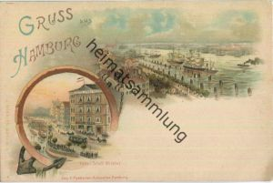 Hamburg - Hotel Stadt Wilster - Künstler-Ansichtskarte - Verlag J. Miesler Berlin