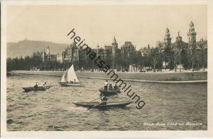 Zürich - Rotes Schloss mit Alpenquai - Edition Photoglob Zürich 20er Jahre