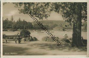 Zürich - Alpenquai - Foto-Ansichtskarte - Edition Guggenheim & Co. Zürich 30er Jahre