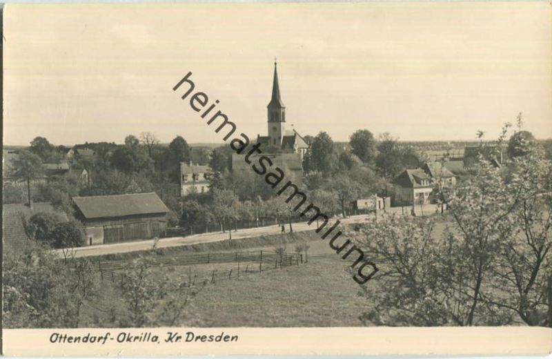 Ottendorf-Okrilla - Foto-AK Handabzug - Verlag Photo-Eulitz Radeburg