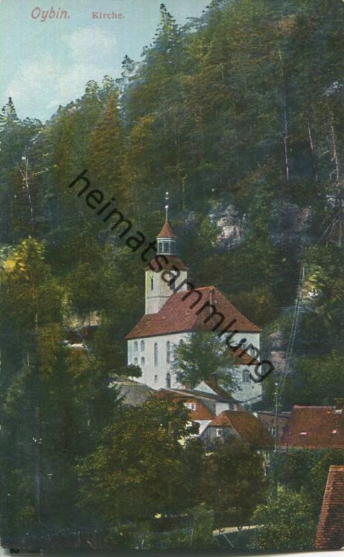 Oybin - Kirche - Verlag E. Wagner Söhne Zittau 20er Jahre