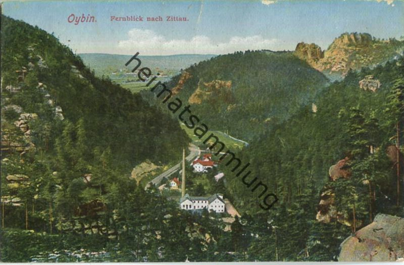 Oybin - Fernblick nach Zittau - Ansichtskartenverlag Silesia Görlitz