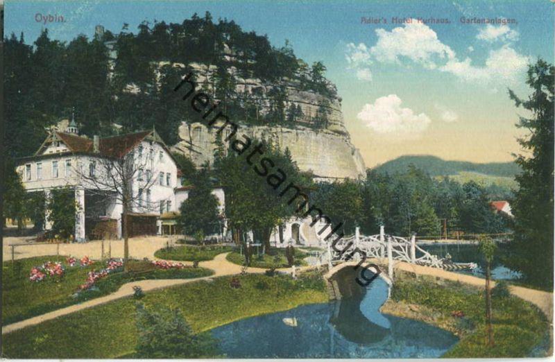 Oybin - Hotel Adler Kurhaus - Parkanlagen - Verlag Hermann Seibt Meissen 1913