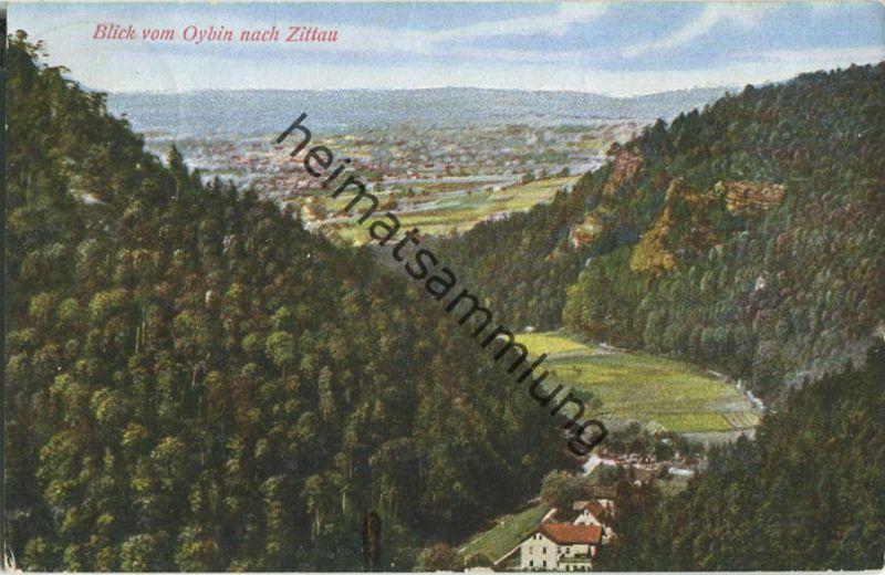 Blick vom Oybin nach Zittau - Photo-Werkstätte Silesia Scholz & Thiel Görlitz