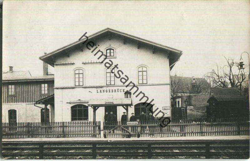 Langebrück - Bahnhof - Foto-Ansichtskarte - Verlag G. Gramsch Dresden