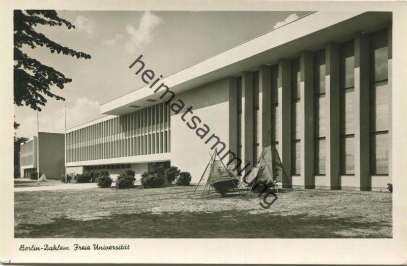 Berlin-Dahlem - Freie Universität - Foto-AK - Verlag Kunst und Bild Berlin gel. 1956