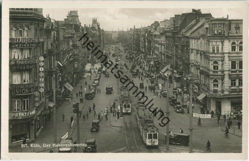 Köln - der Hohenzollernring - Foto-Ansichtskarte 30er Jahre - Verlag Hoursch & Bechstedt Köln