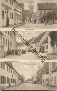 Schildau - Gneisenaustadt - Kirchstraße - Restaurant Gneisenau - Apotheke - Schulstraße - Schule - Gneisenaustraße