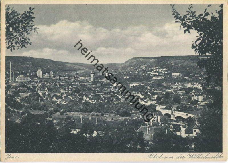 Jena - Blick von der Wilhelmshöhe - AK-Grossformat - Verlag Hermann Paris 40er Jahre