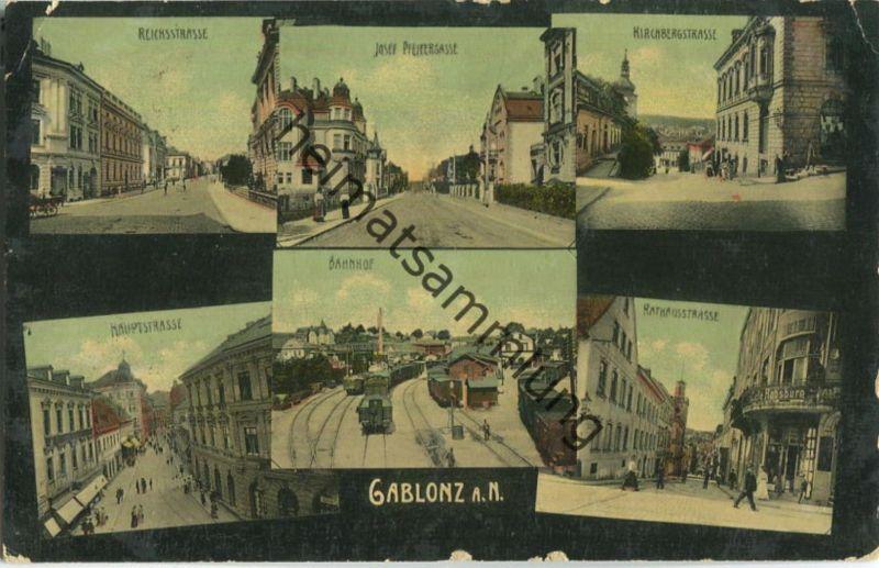 Gablonz - Reichsstrasse - Josef-Pfeiffer-Gasse - Bahnhof - Kirchbergstrasse - Verlag L & P