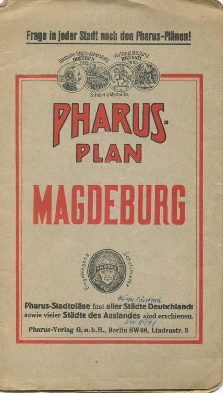 Deutschland - Magdeburg - Pharus-Plan 1927 38cm x 52cm 1:9'700