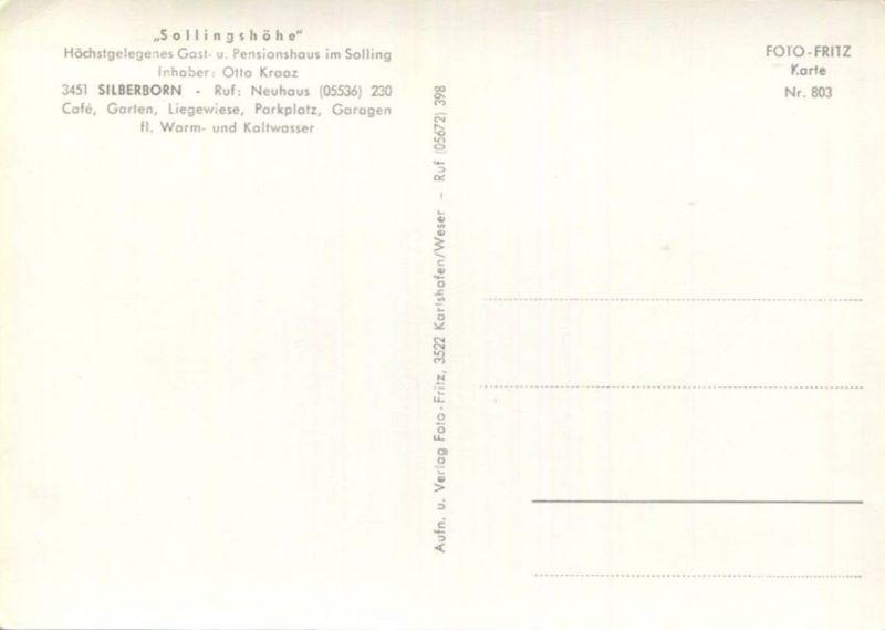Silberborn Gast Und Pensionshaus Sollingshöhe Inhaber Otto