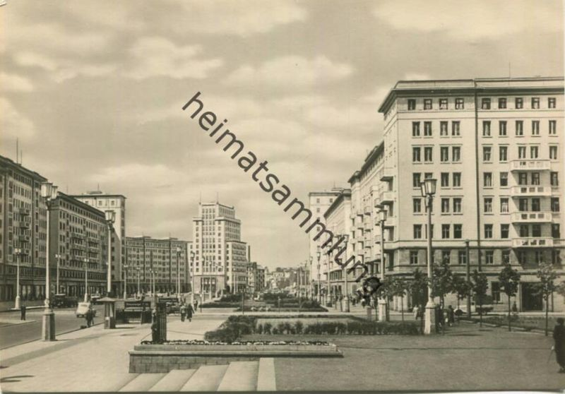 Berlin-Mitte - Stalinallee - Blick nach Westen - Foto-AK Großformat - Verlag Felix Setecki Berlin