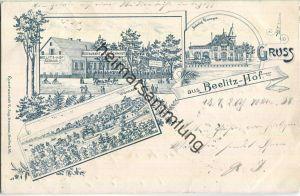 Berlin - Wannsee - Bahnhof - Beelitz-Hof - Restaurant von Ed. Schmidt - Lithographie - Verlag C. Aug. Droesse Berlin