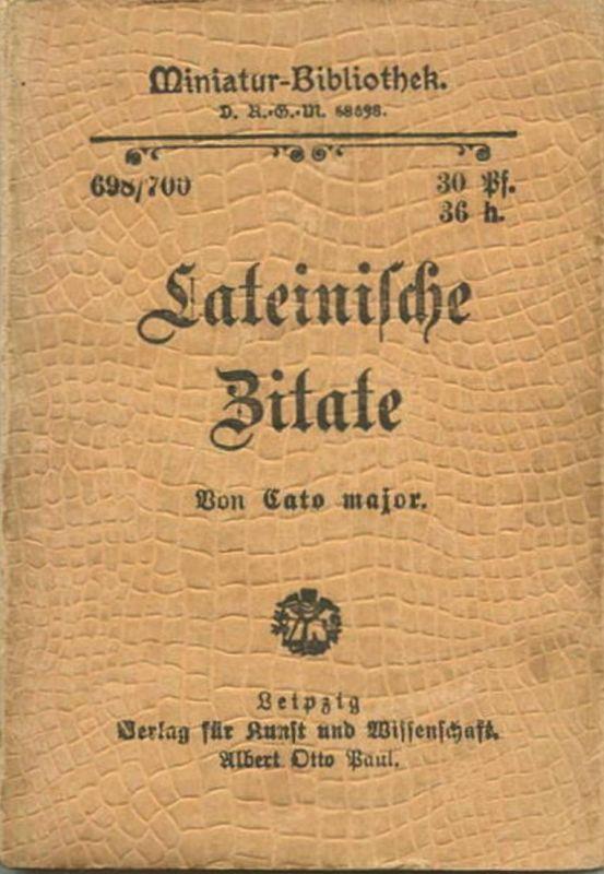 Miniatur Bibliothek Nr Lateinische Zitate Von Cato Major Cm