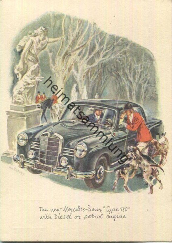 Mercedes-Benz - Type 180 - signiert - The world's oldest automobile markers - AK Grossformat