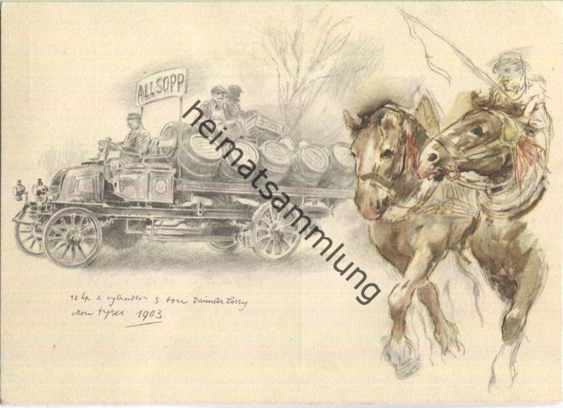 Mercedes-Benz - Bierwagen - The world's oldest automobile markers - AK Grossformat
