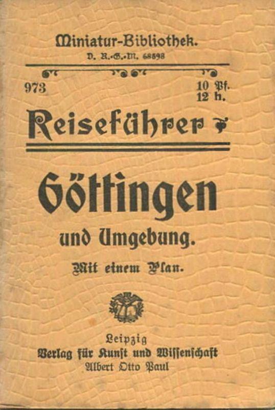 Miniatur-Bibliothek Nr. 973 - Reiseführer Göttingen und Umgebung mit einem Plan von Dr. Paul Sakolowski - 8cm x 12cm -4
