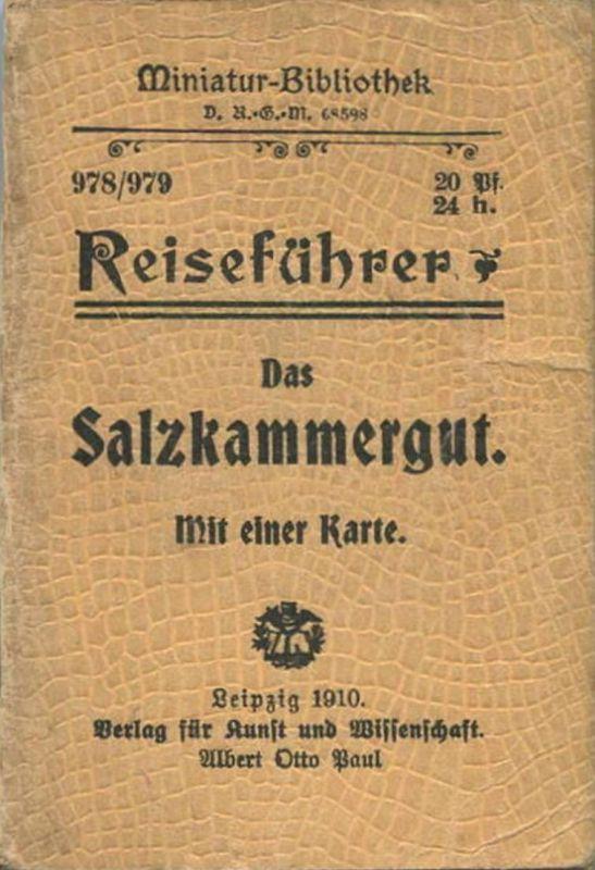 Miniatur-Bibliothek Nr. 978/979 - Reiseführer Das Salzkammergut mit einer Karte von Dr. Paul Sakolowski - 8cm x 12cm -6