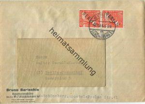 Brief Berlin - zweimal 8 Pf. Schwarzaufdruck - Ortsbrief 1948