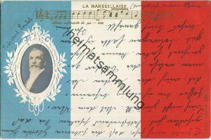 Emile François Loubet - La Marseillaise - Prägedruck - Bahnpost