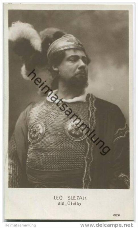Leo Slezak als Otello - Opernsänger (Tenor) - Foto-AK