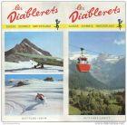 Les Diablerets 1971 - Faltblatt mit 17 Abbildungen - Hotelliste