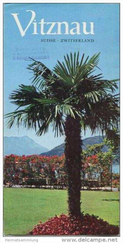 Vitznau 1965 - Faltblatt mit 14 Abbildungen - Vitznau Hotel-Tarife - Faltblatt mit 20 Abbildungen