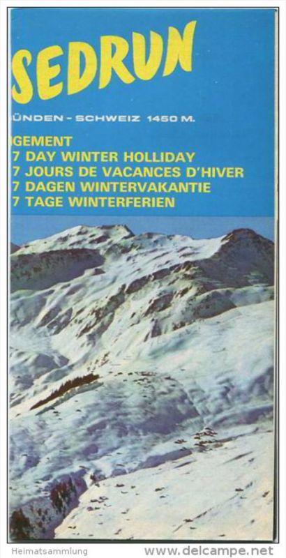 Sedrun 1970 - Poster 42cm x 42cm gefaltet