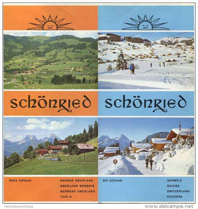 Schönried 1970 - Faltblatt mit 12 Abbildungen - Ortsplan
