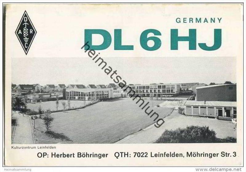 QSL - QTH - Funkkarte - DL6HJ - Leinfelden - 1969