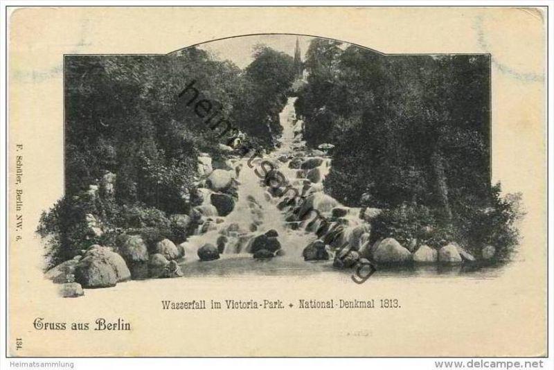 Berlin-Kreuzberg - Wasserfall im Victoria Park ca. 1900