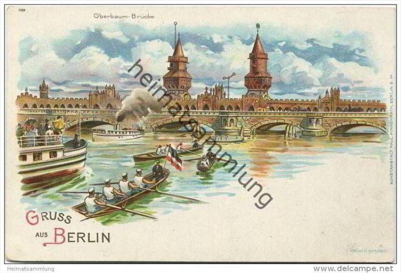 Berlin-Kreuzberg - Oberbaum Brücke ca. 1900