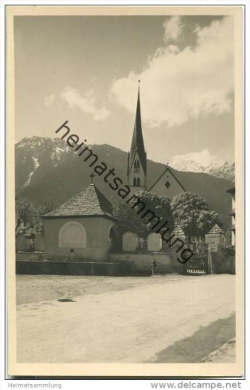 Mayrhofen - Zillertal - Kirche - Foto-AK 30er Jahre