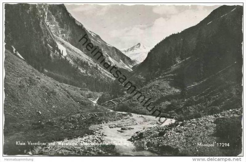 Klein Venediger - Wayeralpe - Untersalzbachtal - Foto-AK