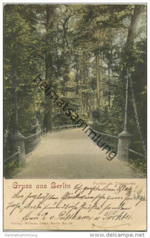 Gruss aus Berlin - Parthie im Thiergarten