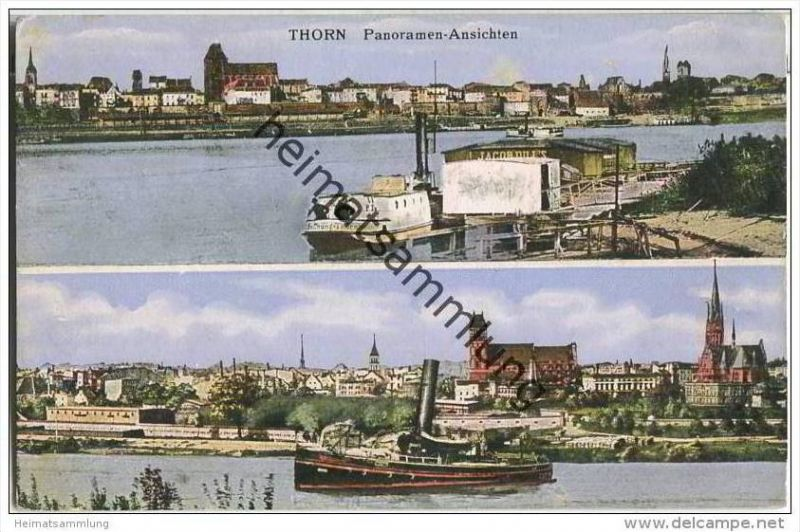 Thorn - Torun - Weichsel - Feldpost S.B Pion. Ersatz Bat. No 17 2.Ers.-Komp.