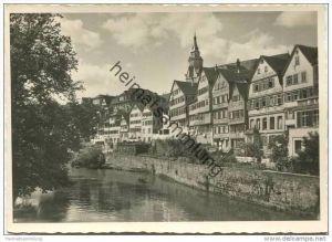 Tübingen - Blick von der Eberhardbrücke neckaraufwärts - Foto-AK Grossformat