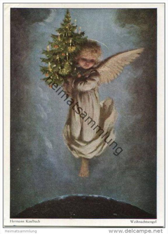 Weihnachtsengel - AK Grossformat - illustriert Illustrateur Hermann Kaulbach