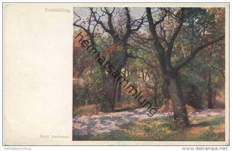 Vorfrühling - Künstlerkarte - Illustrateur Adolf Kaufmann - Wiener Künstler-Postkarte