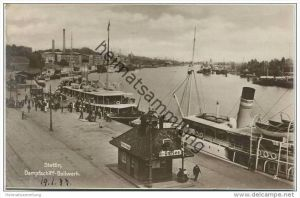 Stettin - Dampfschiff-Bollwerk - Foto-AK