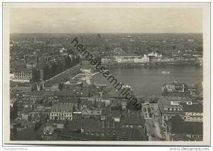 Hamburg - Blick von der Jacobikirche auf die Alster - Foto-AK Grossformat 20er Jahre