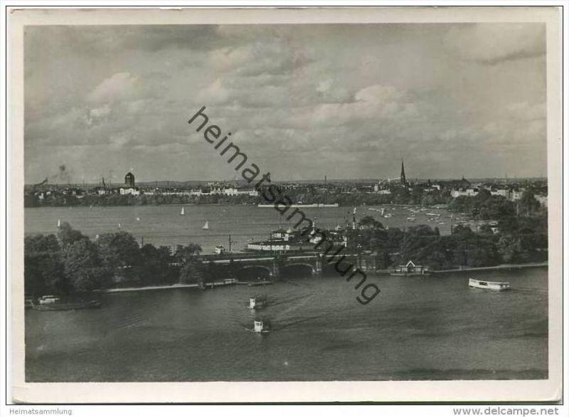 Hamburg - Lombardsbrücke - Foto-AK Grossformat 30er Jahre