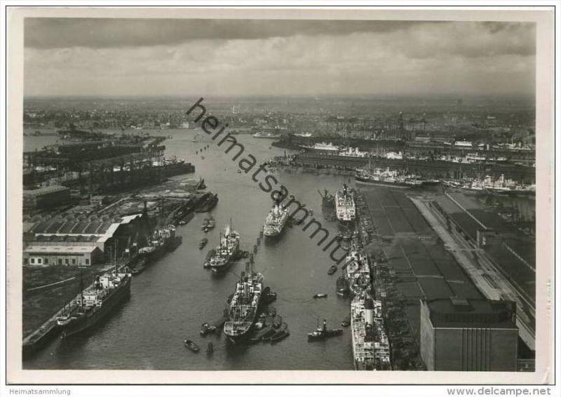 Hamburg - Hafen - Foto-AK Grossformat 30er Jahre