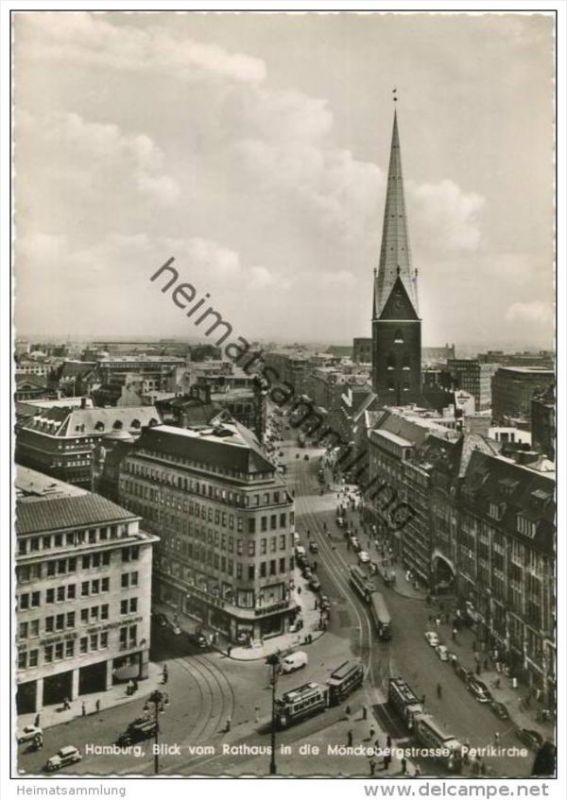 Hamburg - Mönckebergstrasse - Foto-AK-Grossformat 50er Jahre