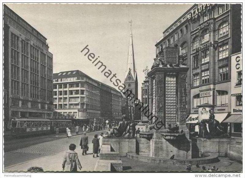 Hamburg - Mönckebergstrasse - AK-Grossformat