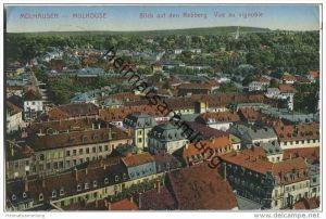 Mülhausen im Elsass (Mulhouse) - Blick auf den Rebberg - Vue au vignoble - Feldpost
